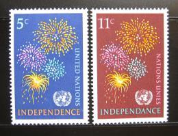 Poštovní známky OSN New York 1967 Ohòostroj Mi# 177-78