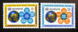 Poštovní známky OSN New York 1968 Sekretariát OSN Mi# 196-97