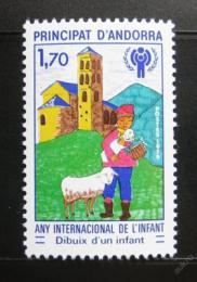 Poštovní známka Andorra Fr. 1979 Mezinárodní rok dìtí Mi# 300