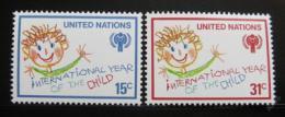 Poštovní známky OSN New York 1979 Mezinárodní rok dìtí Mi# 334-35