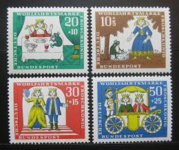 Poštovní známky Nìmecko 1966 Žabí král Mi# 523-26