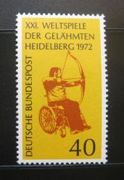 Poštovní známka Nìmecko 1972 Hry pro postižené Mi# 733