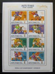 Poštovní známky Aitutaki 1981 MS ve fotbale Mi# Block 33