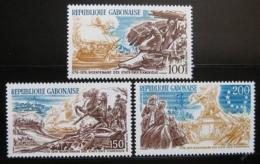 Poštovní známky Gabon 1976 Americká revoluce Mi# 589-91