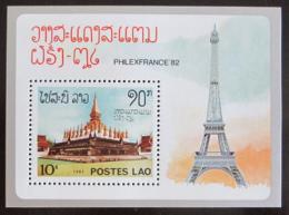 Poštovní známka Laos 1982 Výstava PHILEXFRANCE Mi# Block 90