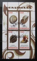 Poštovní známky Rwanda 2010 Život v moøi - lastury