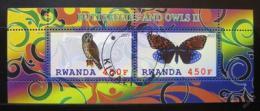 Poštovní známky Rwanda 2011 Motýly a sovy II