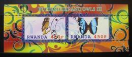 Poštovní známky Rwanda 2011 Motýli a sovy III