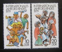 Poštovní známky DDR 1979 Mezinárodní rok dìtí Mi# 2422-23