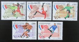 Poštovní známky Kambodža 1998 MS fotbal nekompl. Mi# 1786-90