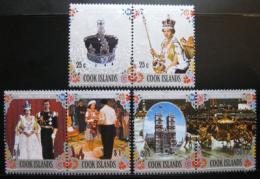 Poštovní známky Cookovi ostrovy 1977 Vláda Alžbìty II. Mi# 518-23