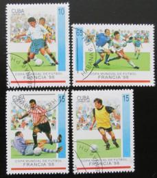 Poštovní známky Kuba 1998 MS ve fotbale nekompl. Mi# 4084-87
