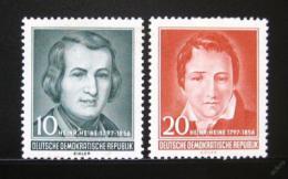 Poštovní známky DDR 1956 Heinrich Heine Mi# 516-17