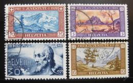 Poštovní známky Švýcarsko 1929 Pro juventute Mi# 235-38 Kat 18€
