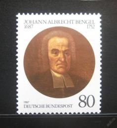 Poštovní známka Nìmecko 1987 Johann Albrecht Bengel, teolog Mi# 1324