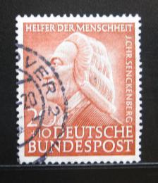 Poštovní známka Nìmecko 1953 Dr. Johann Christian Senckenberg, lékaø Mi# 175