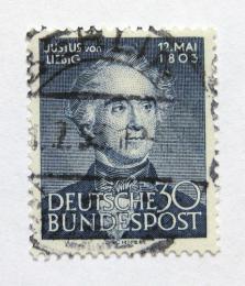Poštovní známka Nìmecko 1953 Justus von Liebig, chemik Mi# 166 Kat 25€