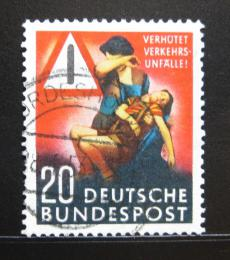 Poštovní známka Nìmecko 1953 Bezpeènost silnièního provozu Mi# 162