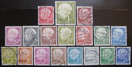 Poštovní známky Nìmecko 1954-60 Prezident Heuss Mi# 177-94