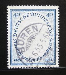 Poštovní známka Nìmecko 1955 Friedrich von Schiller Mi# 210