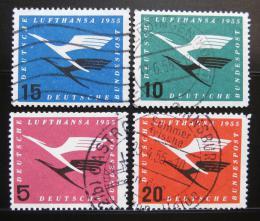 Poštovní známky Nìmecko 1955 Lufthansa emblém Mi# 205-08