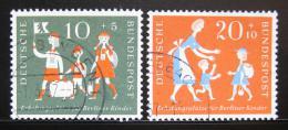 Poštovní známky Nìmecko 1957 Prázdniny Mi# 250-51
