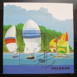 Poštovní známka Sahara 1996 Plachetnice