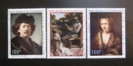 Poštovní známky Dahomey 1969 Umìní Mi# 403-05