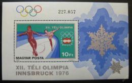 Poštovní známka Maïarsko 1975 ZOH Innsbruck Mi# Block 116