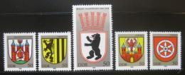 Poštovní známky DDR 1983 Mìstské erby Mi# 2817-21