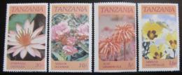 Poštovní známky Tanzánie 1986 Kvìtiny Mi# 324-27