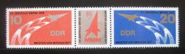 Poštovní známky DDR 1977 Veletrh Mistøi zítøka Mi# 2268-69