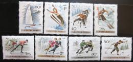 Poštovní známky Maïarsko 1955 Zimní sporty Mi# 1409-16
