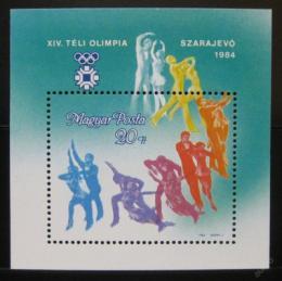 Poštovní známka Maïarsko 1983 ZOH Sarajevo Mi# Block 169