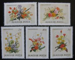 Poštovní známky Maïarsko 1989 Kvìtiny Mi# 4019-23