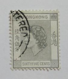 Poštovní známka Hongkong 1960 Královna Alžbìta Mi# 186