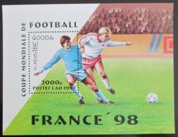Poštovní známka Laos 1997 MS ve fotbale Mi# Block 163
