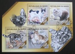 Poštovní známky Niger 2014 Domácí koèky Mi# 2850-53 Kat 12€