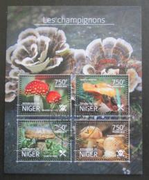 Poštovní známky Niger 2014 Houby Mi# 3164-67 Kat 12€
