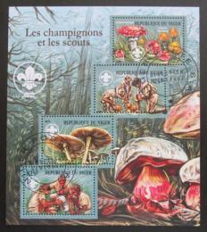 Poštovní známky Niger 2015 Skauti a houby Mi# 3395-98