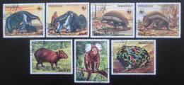 Poštovní známky Paraguay 1985 Ohrožené druhy Mi# 3851-57