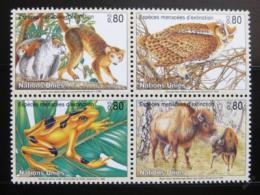Poštovní známky OSN Ženeva 1995 Ohrožená zvíøata Mi# 263-66