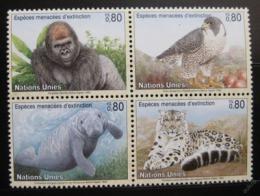 Poštovní známky OSN Ženeva 1993 Ohrožená zvíøata Mi# 227-30
