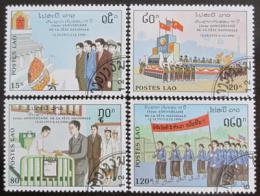 Poštovní známky Laos 1990 Výroèí vzniku republiky Mi# 1240-43