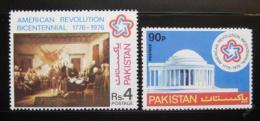 Poštovní známky Pákistán 1976 Americká revoluce Mi# 411-12