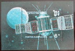Poštovní známka Kambodža 1987 Prùzkum vesmíru Mi# Block 152