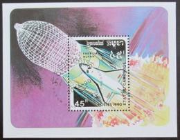 Poštovní známka Kambodža 1990 Prùzkum vesmíru Mi# Block 179
