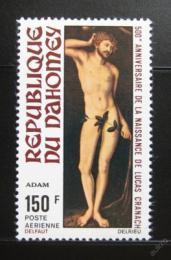 Poštovní známka Dahomey 1972 Adam, Lucas Cranach Mi# 495