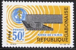 Poštovní známka Gabon 1966 Ústøedí WHO Mi# 243