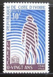 Poštovní známka Pobøeží Slonoviny 1966 Výroèí UNESCO Mi# 307